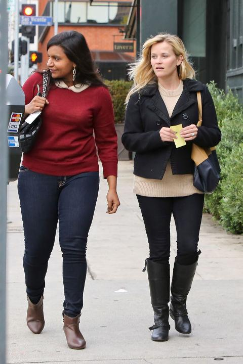 Mindy Kaling in Reese Witherspoon