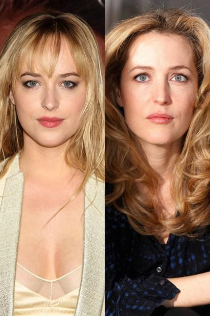 Dakota Jonhson in Gillian Anderson