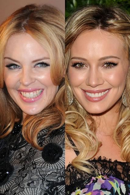 Kylie Minogue in Hilary Duff